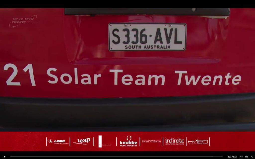 Tussenstand World Solar Ralley