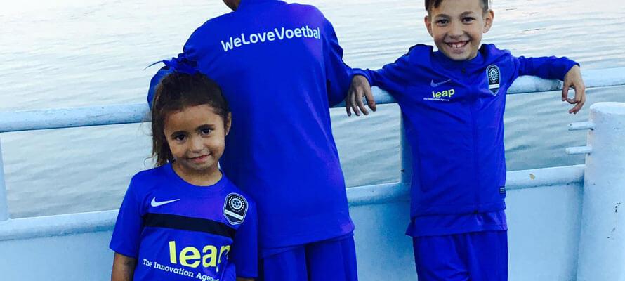 Leap is trotse hoofdsponsor geworden van voetbalschool WeLoveVoetbal!