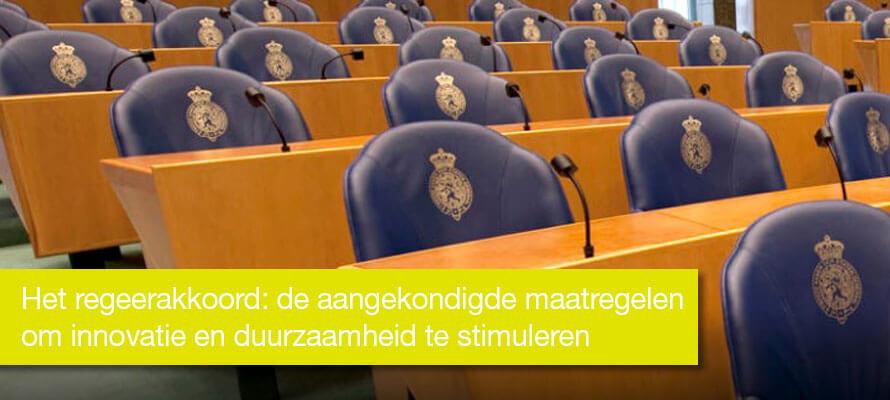 Het regeerakkoord Rutte III: de aangekondigde maatregelen om innovatie en duurzaamheid te stimuleren