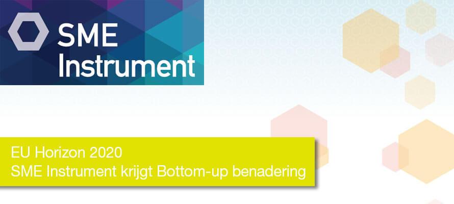 EU Horizon2020 – SME Instrument krijgt Bottom-up benadering