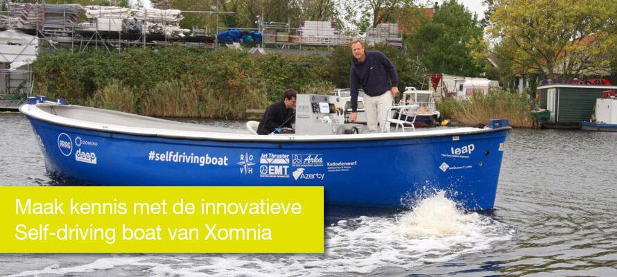 Maak kennis met de innovatieve Self-driving boat van Xomnia