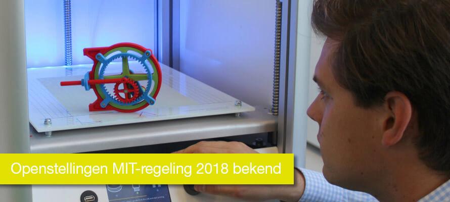 Openstellingen MIT-regeling 2018 bekend