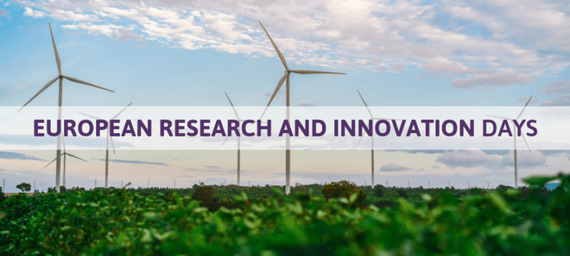 European Research and Innovation Days op 24, 25 en 26 september 2019